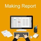 Illustration de rapport de vente Concepts plats d'illustration de conception pour des affaires Image stock