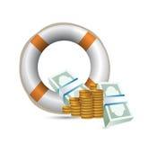 Illustration de renflouement d'économie illustration de vecteur