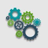 Illustration de roue de dent Photos stock