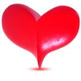 Coeur 3d rose Image libre de droits