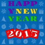 Illustration de salutation de nouvelle année Image libre de droits