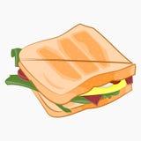 Illustration de sandwich Images stock