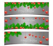 Illustration de scénographie de bannières de Joyeux Noël Image libre de droits