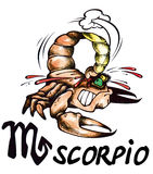 Illustration de Scorpion Photographie stock