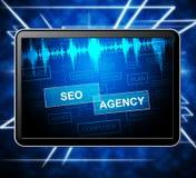 Illustration de Seo Agency Shows Search Engine 3d illustration de vecteur