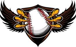 Illustration de serres et de griffes de base-ball d'aigle Images stock