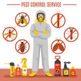 Illustration de service de lutte contre les parasites illustration libre de droits