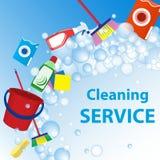 Illustration de service de nettoyage Calibre d'affiche pour le cleanin de maison Images stock
