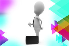 illustration de serviette d'homme des affaires 3d Images stock