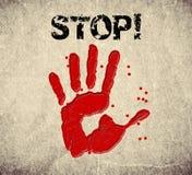 Illustration de signe d'arrêt de Handprint illustration de vecteur