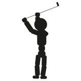 Illustration de signe d'homme de golfeur Vecteur Icône noire sur le fond blanc illustration stock