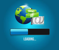 illustration de signe de barre de chargement de courrier de contactez-nous Image libre de droits