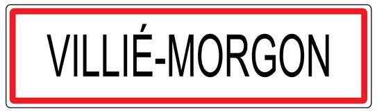 Illustration de signe de circulation urbaine de Villie Morgon dans les Frances Photographie stock libre de droits