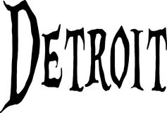 Illustration de signe des textes de Detroit Photographie stock libre de droits