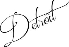 Illustration de signe des textes de Detroit Image libre de droits