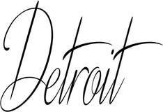 Illustration de signe des textes de Detroit Images stock