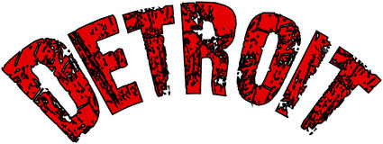 Illustration de signe des textes de Detroit Photographie stock