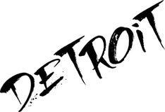 Illustration de signe des textes de Detroit Images libres de droits