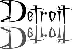 Illustration de signe des textes de Detroit Photo stock