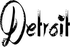 Illustration de signe des textes de Detroit Photos stock