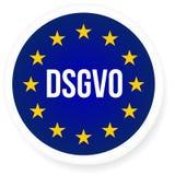 Illustration de signe de DSGVO Règlement général de protection des données - GDPR illustration de vecteur