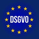 Illustration de signe de DSGVO Règlement général de protection des données - GDPR Photographie stock