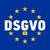 Illustration de signe de DSGVO Règlement général de protection des données - GDPR Photo stock