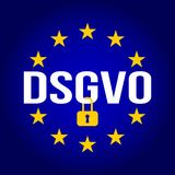 Illustration de signe de DSGVO Règlement général de protection des données - GDPR Photographie stock libre de droits