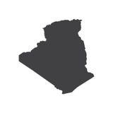 Illustration de silhouette de carte de l'Algérie illustration de vecteur