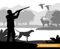 Illustration de silhouette de chasse Photographie stock libre de droits
