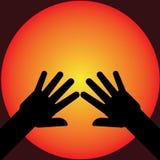 Illustration de silhouette de mains Photographie stock libre de droits