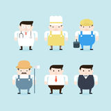 Illustration de six professions Images stock