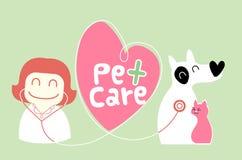 Illustration de soin des animaux familiers Image libre de droits