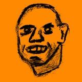 Illustration de sourire heureuse d'homme image stock