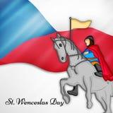 Illustration de St Wenceslas Day Background Images stock