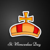 Illustration de St Wenceslas Day Background Images stock