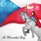 Illustration de St Wenceslas Day Background Image stock