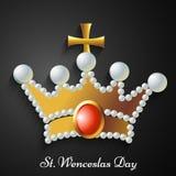 Illustration de St Wenceslas Day Background Photographie stock libre de droits