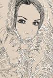 Illustration de style de sch?ma d'une femme, photo libre de droits