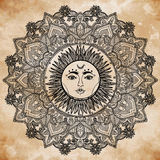 Illustration de Sun Mandala Round Ornament Photographie stock libre de droits