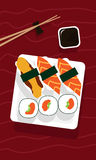 Illustration de sushi Photographie stock