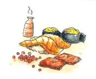 Illustration de sushi illustration libre de droits