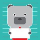 Illustration de symbole d'ours de tendance de marché boursier Photographie stock libre de droits