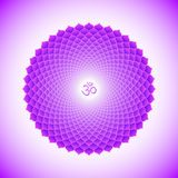 Illustration de symbole de Sahasrara de chakra de vecteur Photos stock