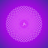 Illustration de symbole de Sahasrara de chakra de vecteur Images stock