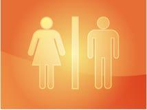 Illustration de symbole de toilette Photographie stock libre de droits