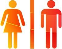 Illustration de symbole de toilette Images stock