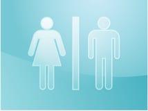 Illustration de symbole de toilette Photo stock