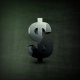 Illustration de symbole dollar Images libres de droits