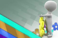 illustration de symbole dollar de l'homme 3d Image libre de droits